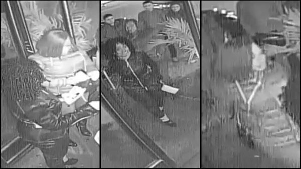 Suspect images, released by the police