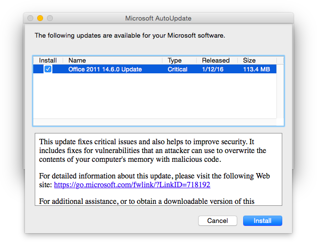 microsoft autoupdate mac download