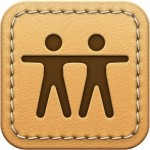 Find My Friends' original skeuomorphic icon
