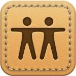 Find My Friends' original skeuomorphic icon