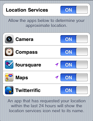 iOS 4 Location Services