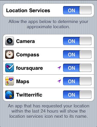 iOS 4 Location Services