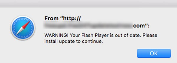 flash out of date mac virus