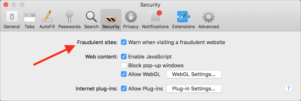 safari-fraudulent-site-protection