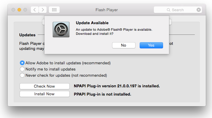 Adobe Flash Player 21.0.0.213 Available