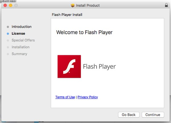 Fake Flash installer