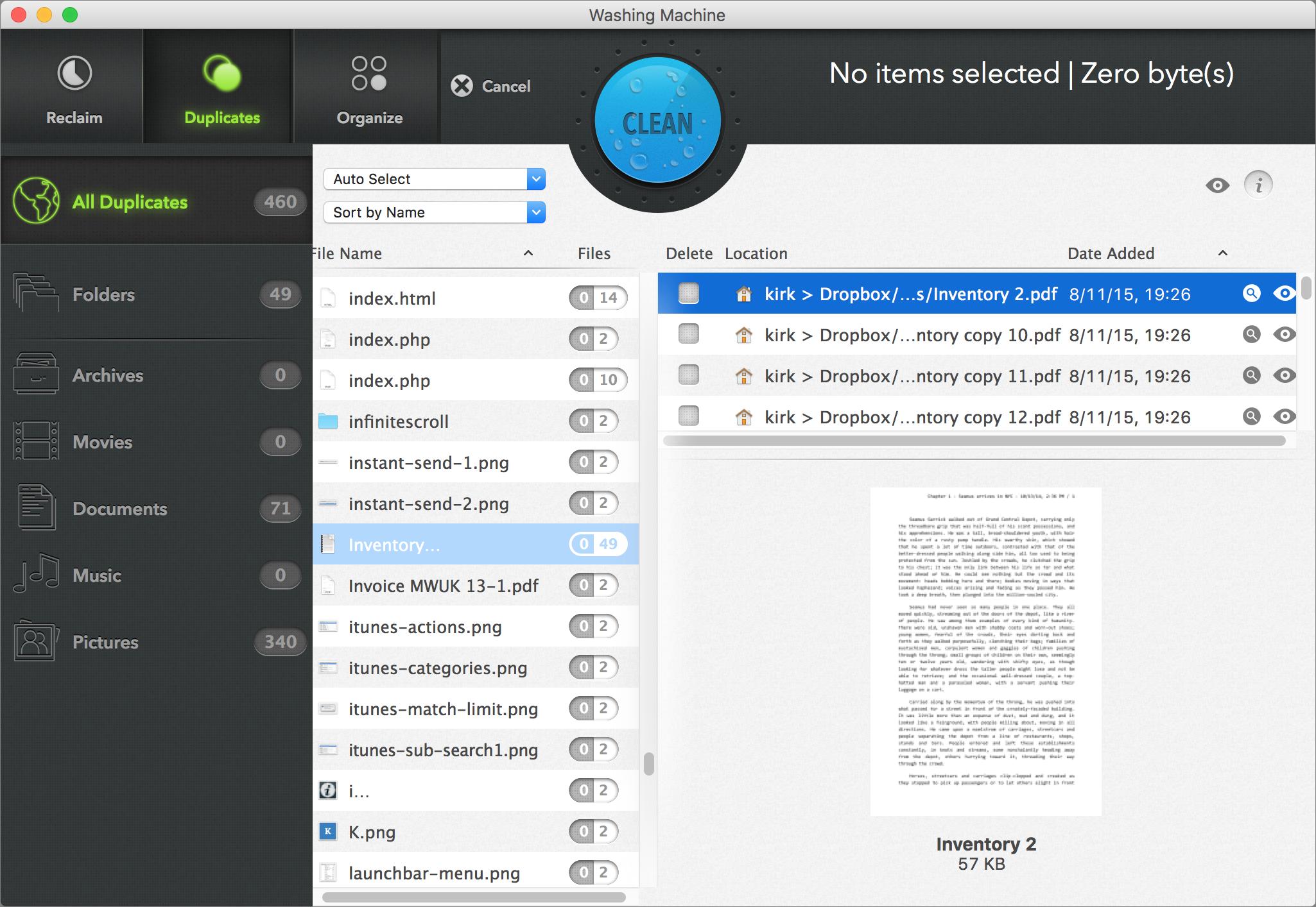 Duplicate file types