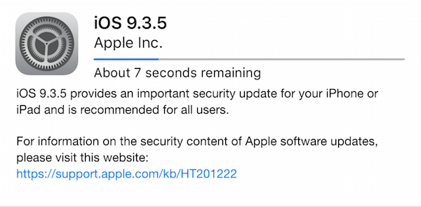 iOS 9.3.5 Security Update