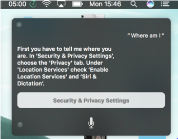 Siri on Mac