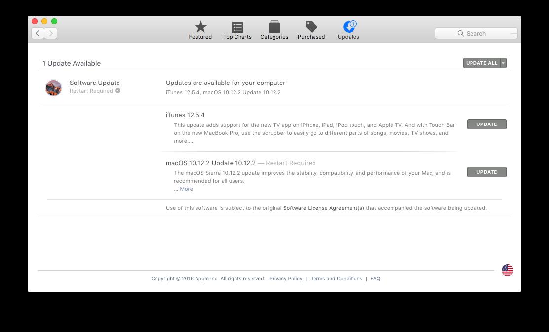 Install macOS updates
