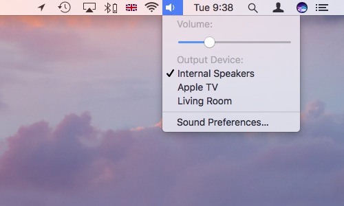 Mac Menu bar extras sound