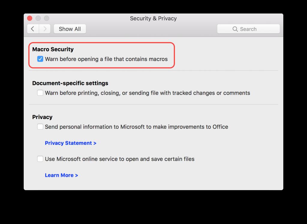 Beware! Dangerous Macro Malware Ahead | The Mac Security Blog