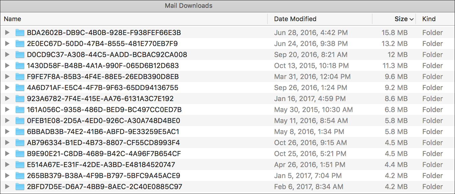 Mail Downloads
