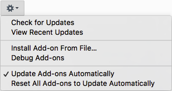 Update add-ons automatically