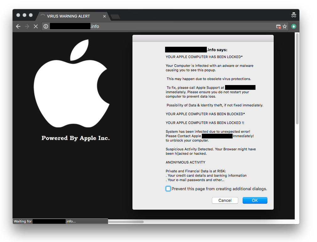 Apple Security Alert Fraud