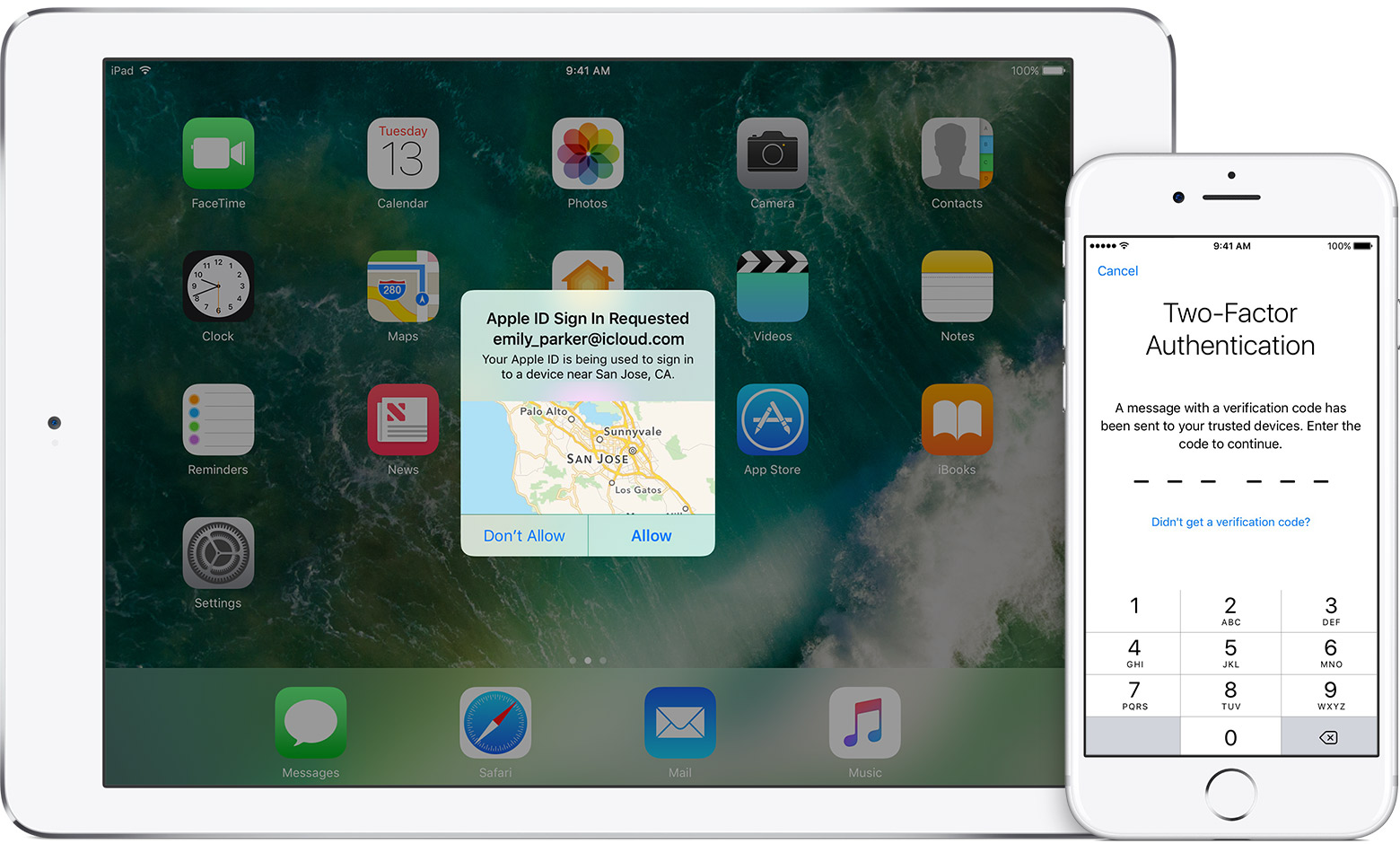 iOS 10.3 Apple ID Two Factor