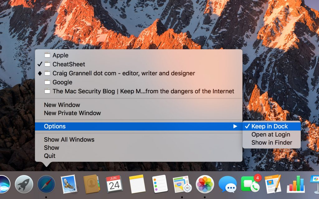 Navigate dialog boxes and the Dock with your keyboard