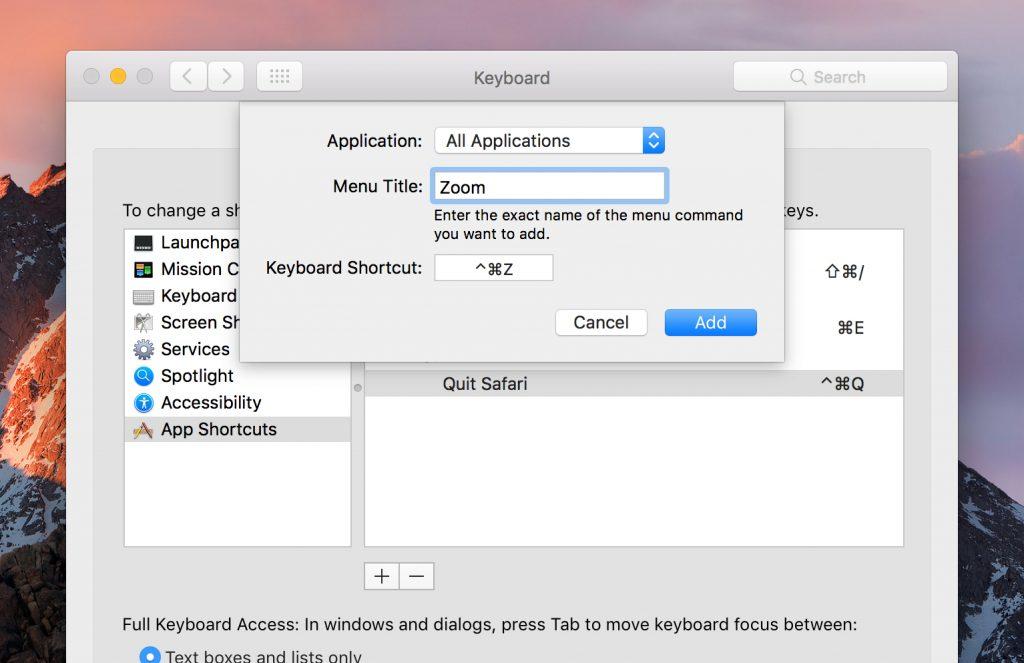Create a systemwide custom keyboard shortcut