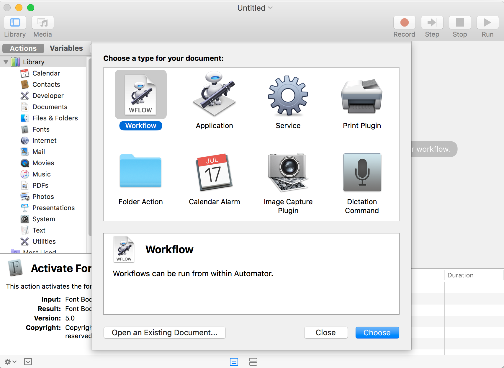 Getting to Know Automator