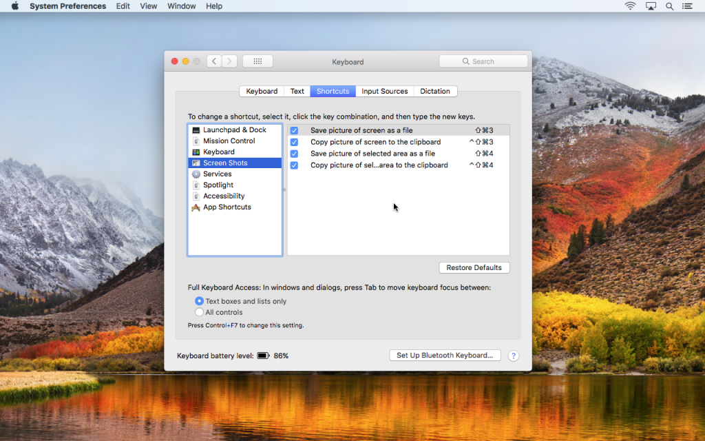 Shoot and save screenshots on your Mac