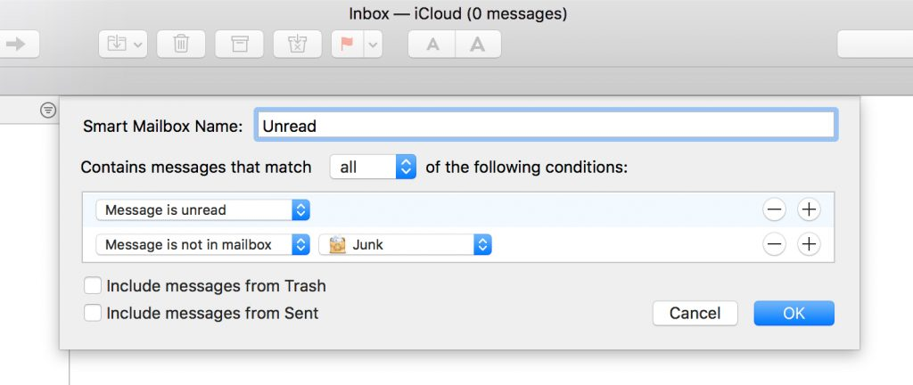 Smart Mailbox unread messages