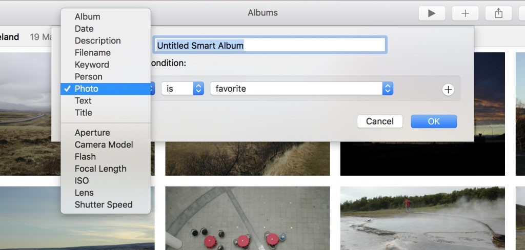 Smart Albums in Photos