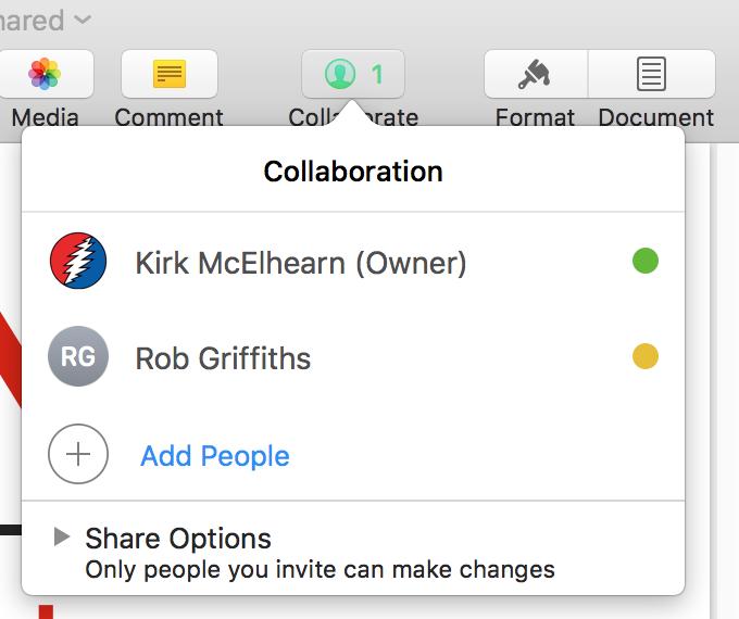 iWork Collaboration