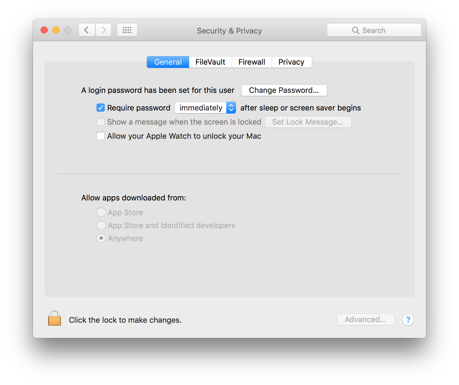 How to require password immediately after sleep or screen saver begins on Mac