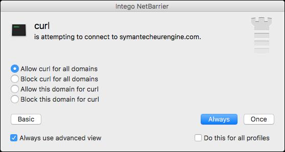 Intego NetBarrier detecting Proton malware