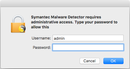 Symantec Malware Detector phishing for credentials