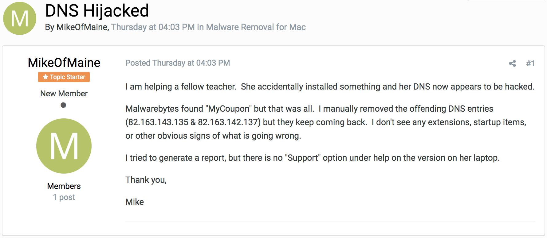 Ay, MaMi! New DNS-hijacking Mac malware discovered | The Mac