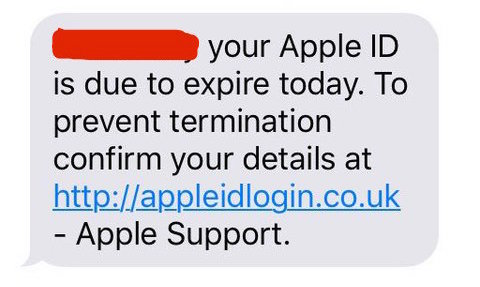 iPhone text message scam