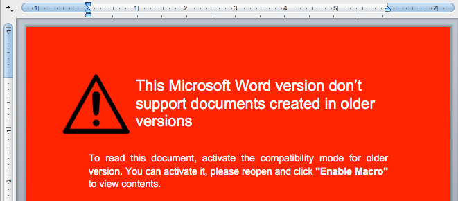 OceanLotus malware Microsoft Word document