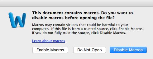 OceanLotus Macros malware