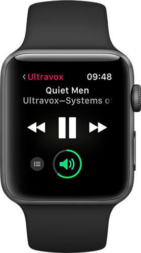 Play music on Apple Watch devices