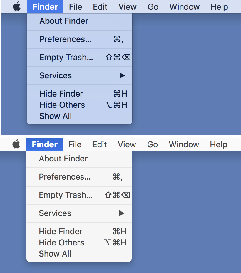 Finder display options