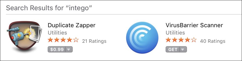 Intego Mac App Store Apps