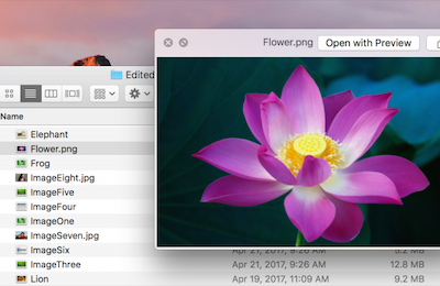 Quick Look in the macOS Finder