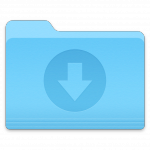 Downloads folder icon, macOS