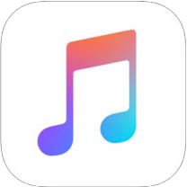 Apple Music icon iOS 12 with border