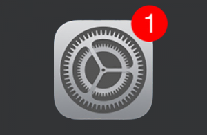 iOS software update available icon
