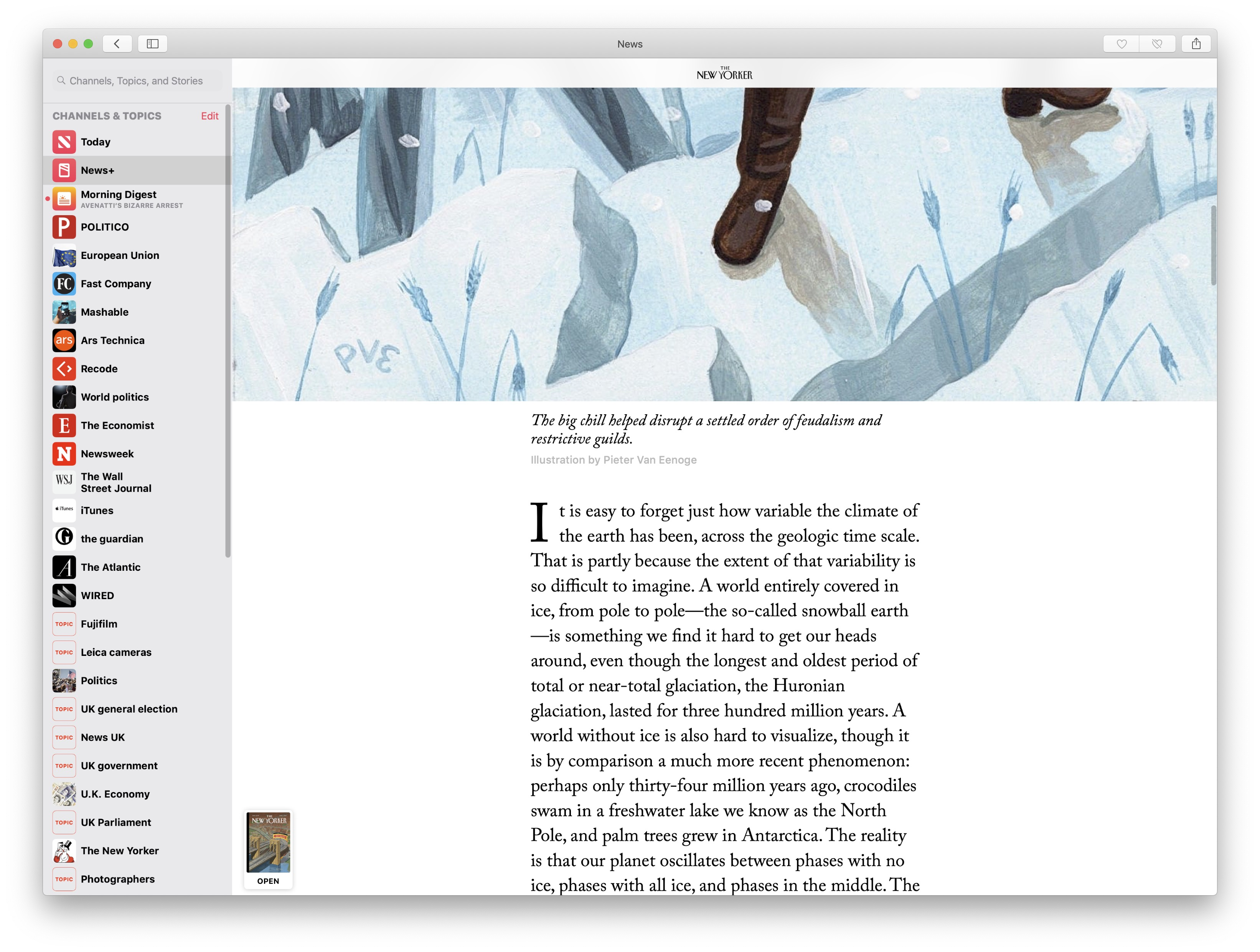 First look at Apple News+ | The Mac Security Blog