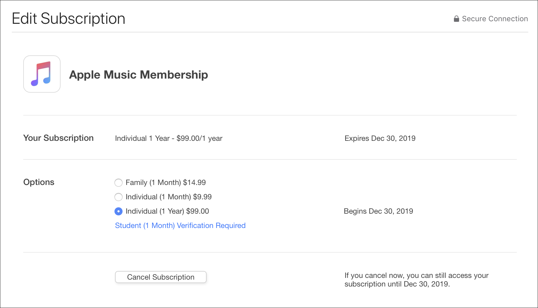 how to manage itunes store and app store subscriptions