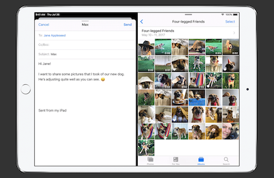 Split Screen multitasking with iOS 12 on iPad Pro