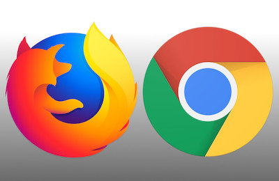 Mozilla Firefox and Google Chrome Mac browser icons logos