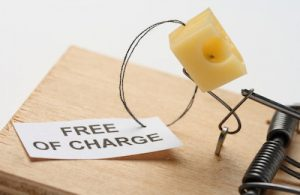 """""""Free of charge"""" cheese in a mousetrap"""