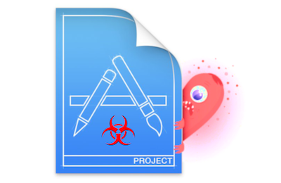 Xcodeproj file infected with XCSSET - Mac malware logo