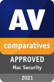 AV Comparatives APPROVED Mac Security Product award 2021