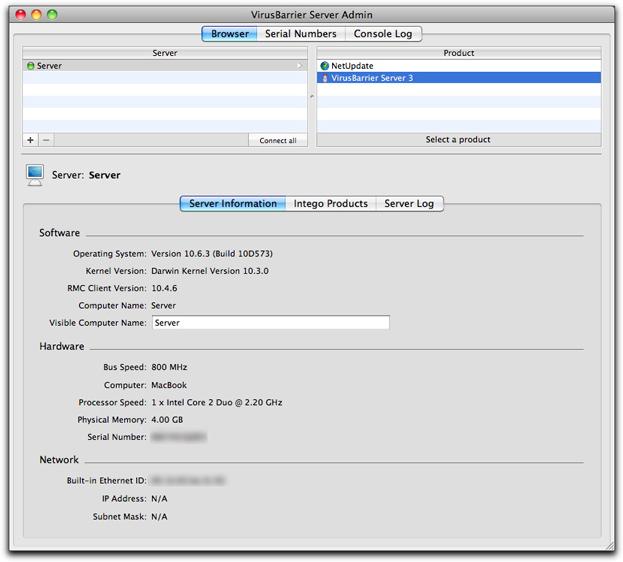 Using Intego VirusBarrier Server 3