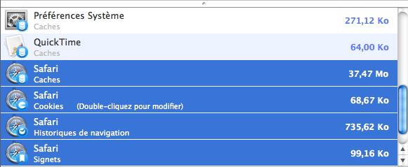 Washing Machine - Bibliothèque > Tous > Préférences Système + QuickTime + Safari (détail)